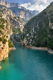 Well-known canyon Verdon Royalty Free Stock Photos