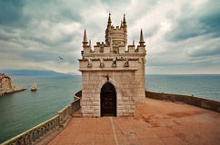 Well-known castle Swallow's Nest near Yalta Royalty Free Stock Photo