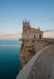 The well-known castle Swallow's Nest near Yalta Royalty Free Stock Photo