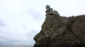 Well-known castle Swallow's Nest near Yalta stock video