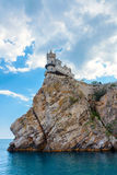 The well-known castle Swallow's Nest near Yalta Royalty Free Stock Photos