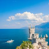 The well-known castle Swallow's Nest near Yalta Royalty Free Stock Images