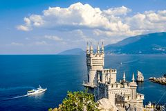 The well-known castle Swallow's Nest near Yalta Stock Photos