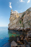 The well-known castle Swallow's Nest near Yalta Stock Images