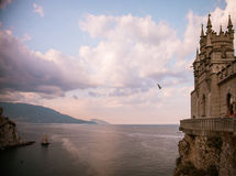 The well-known castle Swallow's Nest near Yalta, Crimea Royalty Free Stock Photography