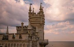 The well-known castle Swallow's Nest near Yalta, Crimea, Stock Photography