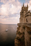 The well-known castle Swallow's Nest near Yalta, Crimea, Royalty Free Stock Image