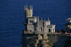 The well-known castle Swallows Nesti near Yalta stock images