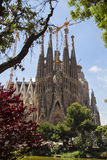 The well-known church of Gaudi Stock Images