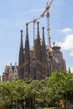 The well-known church of Gaudi Royalty Free Stock Image