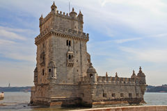The well-known fortress of Belen. In a river Tagus mouth. Portugal, Lisbon royalty free stock photography