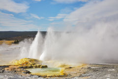 Well-known geysers Royalty Free Stock Photo