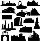 Well-known Greece architecture Royalty Free Stock Images