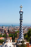 The well-known monument in Park Guel in Barcelona.  royalty free stock image