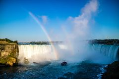 The well known Niagara Falls in Canada, Ontario stock image