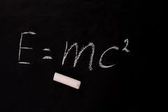 Well-known physical formula. Close up stock images