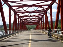 The well known San Juanico bridge in the province of Leyte, Philippines. LEYTE, PHILIPPINES - NOVEMBER 11, 2015: The well known San Juanico bridge in the stock image