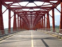 The well known San Juanico bridge in the province of Leyte, Philippines. LEYTE, PHILIPPINES - NOVEMBER 11, 2015: The well known San Juanico bridge in the stock images