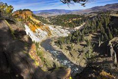 The well-known Yellowstone national park Stock Photography