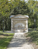 Well with lions in Festetics Castle garden. Keszthely, Hungary. Stock Photography