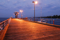 Well Lit Dock Royalty Free Stock Photo