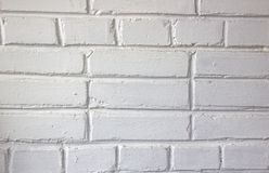 Wall made brick wall painted white good texture stock images