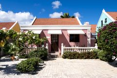 Well-mainted home in Aruba, Caribbean Sea Royalty Free Stock Photos