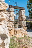 Well in Maltese limestone in the limits of Rabat, Malta. A traditional well built in Maltese limestone in the limits of Rabat, Malta Royalty Free Stock Photography