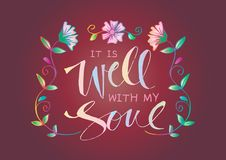 It is well with my soul stock illustration