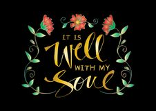 It is well with my soul vector illustration