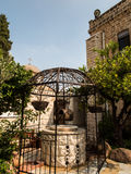 Well next to the church of the first miracle of Jesus, the trans. Formation of water into wine, Cana Israel Stock Image