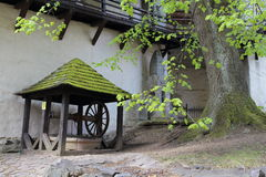 Well in Old castle in Banska Stiavnica, Slovakia Stock Images