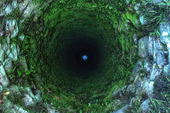 Well. Old deep well with moss Royalty Free Stock Photos