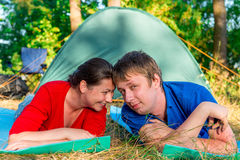 Well pair is resting outdoors Royalty Free Stock Photos