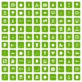 100 well person icons set grunge green. 100 well person icons set in grunge style green color isolated on white background vector illustration stock illustration