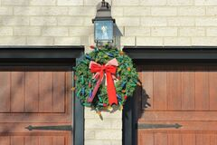 Well placed wreath Royalty Free Stock Photography