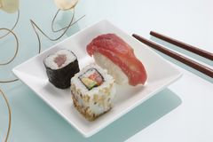Well presented sushi dish Stock Photo