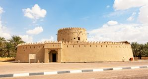 A Fort in Al Ain. A well preserved fort in Al Ain, in the Emirate of Abu Dhabi in the UAE. The city is home to more than 40 palaces, forts and historical Stock Photo
