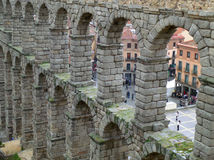 The Well Preserved Roman Aqueduct of Segovia Stock Photo