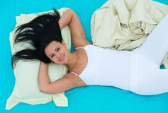 Well-rested girl waking up Stock Images