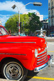 Well restored red vintage Ford in Havana Royalty Free Stock Photography