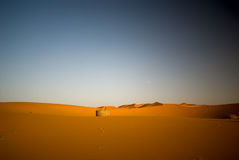 Well in the Sahara desert. Well in the Middle of Sahara, Morocco Stock Images