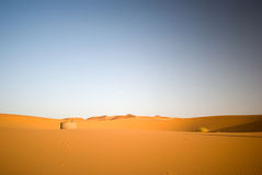 Well in the Sahara desert. Well in the Middle of Sahara, Morocco Royalty Free Stock Photo