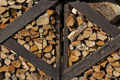Well seasoned firewood Royalty Free Stock Photos