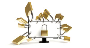 Well-secured PC Royalty Free Stock Photography