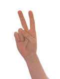 Well shaped business man hand count.. two Royalty Free Stock Photos