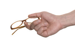 Well shaped hand with a glasses Stock Image