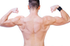 Well shaped trapezius Royalty Free Stock Image