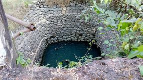 A tiny well in a small village. A small well with water in Puttur village, India Stock Photography