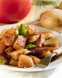 Well spiced roasted potato served Royalty Free Stock Photography